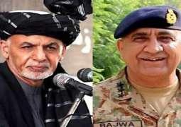 COAS Gen Bajwa, Ashraf Ghani discuss Afghan peace plan