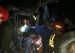 7 killed, over 30 hurt in coach, dumper collision in Sargodha