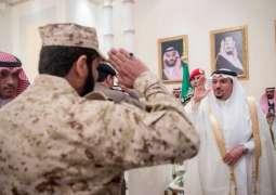 بمناسبة عيد الفطر المبارك أمير القصيم يستقبل المهنئين