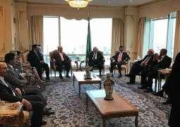 السفير المعلمي يحتفي بوزير الخارجية اليمني ومندوب اليمن لدى الأمم المتحدة