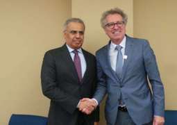 Obaid Al Tayer, Luxembourg's Minister of Finance discuss cooperation