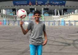 Pakistani teenager conducts toss in FIFA match