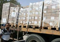 Breaking: 100-truck convoy loaded with humanitarian aid arrives in Mocha, Yemen