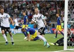 ألمانيا تلدغ السويد بهدف الفوز في الوقت القاتل وتنعش حظوظها في كأس العالم