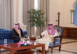 أمير الجوف يلتقي المهندس الوشيح بمناسبة تعيينه مديراً للتدريب التقني بالمنطقة