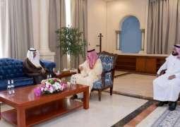 الأمير بدر بن سلطان يستقبل مدير فرع وزارة البيئة والمياه والزراعة بالجوف بمناسبة تعيينه