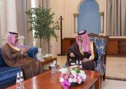 أمير الجوف يلتقي رئيس مجلس إدارة ميدان الفروسية بالمنطقة