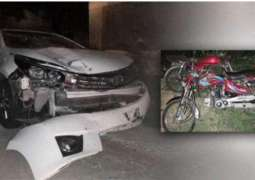Chinese national's car hits motorist in capital