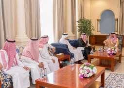 أمير الجوف يستقبل رئيس وأعضاء فرع هيئة المهندسين بالمنطقة
