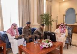 أمير منطقة الجوف يدشن مركز الدفاع المدني بمركز صوير