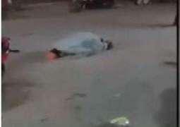 Video of Bushra Bibi's ex-husband Khawar Maneka prostrating at road surfaces