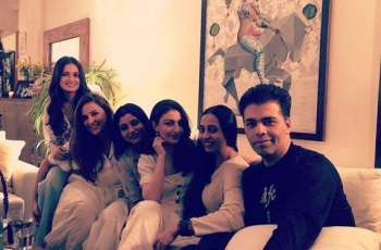 Dia Mirza hosts dinner for newly-wed Neha Dhupia and Angad Bedi