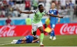 نيجيريا تتغلب على ايسلندا بثنائية وتجدد أحلامها في بلوغ الدور الثاني في كأس العالم لكرة القدم 2018