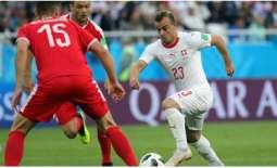 سويسرا تتغلب على صربيا وتقترب من ثمن نهائي كأس العالم لكرة القدم