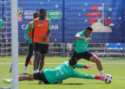المنتخب السعودي لكرة القدم يختتم تدريباته استعدادًا لمواجهة مصر .. الاثنين