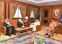 وزير الداخلية الكويتي يستقبل رئيس جامعة نايف للعلوم الأمنية