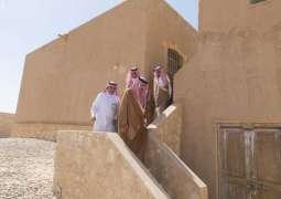 أمير منطقة الجوف يزور المواقع الأثرية بمحافظة القريات