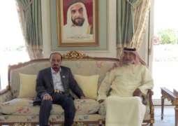 Khalifa receives Ajman Ruler in France