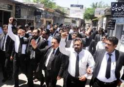 Bar Clubs of Hazara division protest against Mastung, Bannu bomb blasts