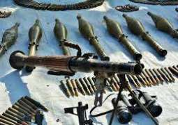 Two terrorists held, cache of arms, ammunition and explosives recovered
