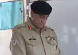 COAS Gen Qamar Javed Bajwa casts vote in Rawalpindi