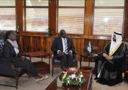 سفير الدولة لدى جنوب أفريقيا يقدم اوراق اعتمادة كسفير غير مقيم في بوتسوانا