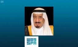 خادم الحرمين الشريفين يهنئ رئيس جمهورية مصر العربية بذكرى اليوم الوطني لبلاده