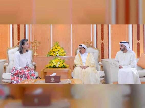 Ajman Ruler receives outgoing Belgian Ambassador
