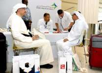 Dubai Health Authority conducts medical check-ups at Dubai International Airport on Hajj pilgrims leaving for Mecca