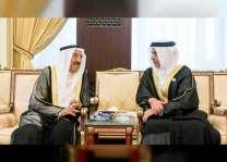 تعازي رئيس الدولة ونائبه ومحمد بن زايد في وفاة فريحة الصباح ينقلها سيف بن زايد إلى أمير الكويت