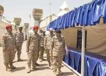 قائد وحدات القوات المسلحة المشاركة بالحج يقف على جاهزية الوحدات