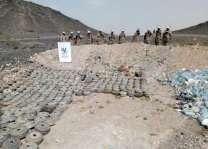"""فرق """"مسام""""  تواصل عمليات نزع الألغام في مناطق محافظة مارب"""