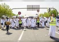 حجاج بيت الله الحرام يستقرون على صعيد عرفات