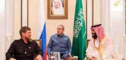 سمو ولي العهد يستقبل رئيس جمهورية الشيشان