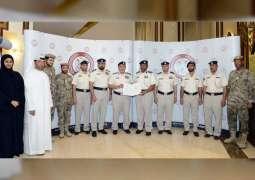 شرطة أبوظبي تكرم فريقها لحصوله على شهادات النظام  الإداري المتكامل المتميزة عالميا