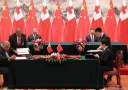 Tonga PM calls on China to write-off Pacific debt
