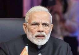 Indian Prime Minister Narendra Modi  Visits Flood-Hit Kerala