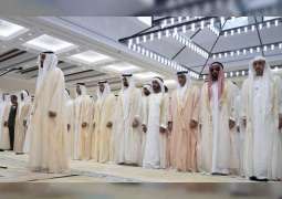 Mohamed bin Zayed performs Eid al-Adha prayer at Sheikh Sultan bin Zayed the First Mosque