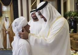 Mohamed bin Zayed receives Eid al-Adha well-wishers at Mushrif Palace