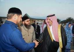 رئيس جمهورية الشيشان يغادر المدينة المنورة
