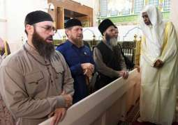 الرئيس الشيشاني يزور المسجد النبوي
