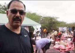 Senator Talha Mehmood celebrates Eid-ul-Azha with Somalian refugees
