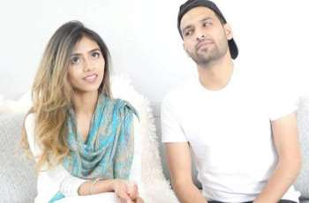 Zaid Ali celebrates first anniversary with wife