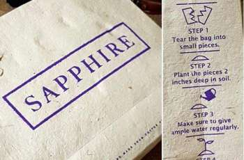 Clothing brand Sapphire introduces biodegradable, seed infused bags