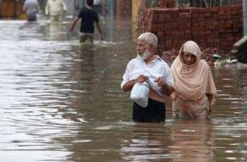 Continuous heavy rain triggered a flah flood