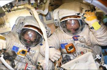 Two Russian Cosmonauts Go on Spacewalk