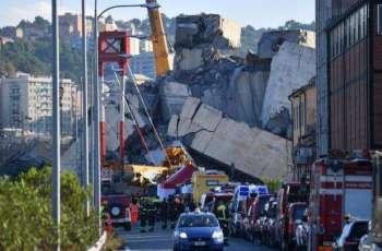 إيطاليا تعلن حالة الطوارئ في جنوة بعد انهيار جسر ومقتل 39 شخصا