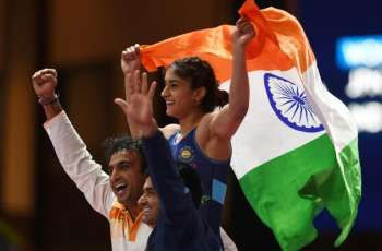 Life imitates art as Indian wins women's wrestling gold