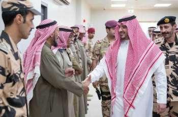 سمو وزير الداخلية يتفقد قوة أمن الحج للمجاهدين المشاركة في مهام الحج