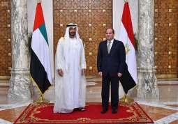 الرئيس المصري يجري مباحثات مع ولي عهد أبو ظبي